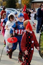 Kids in Halloween parade