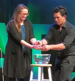 SV's Breanna Ryder assists magician on stage