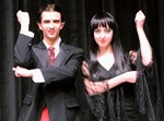 Photo of male and female actors who are part of the cast of The Addams Family, a New Musical Comedy