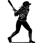 Graphic of female softball hitter