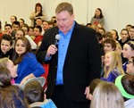 Ed Gerety during 2015 appearance at RTS Middle School