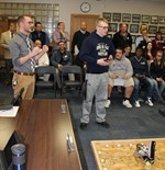 robotics demonstration at board meeting