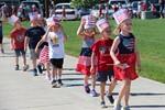Children parading on Flag Day