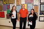 art teacher jeff renner and two students