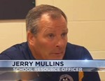 Screen shot of Jerry Mullins being interviewed by WBNG