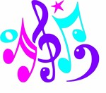 color clip art of music notes and symbols