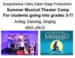 Logo for sv summer theater camp