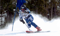 Dan Kosick skiing