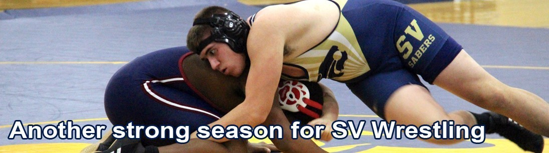 Sabers wrestler controls opponent