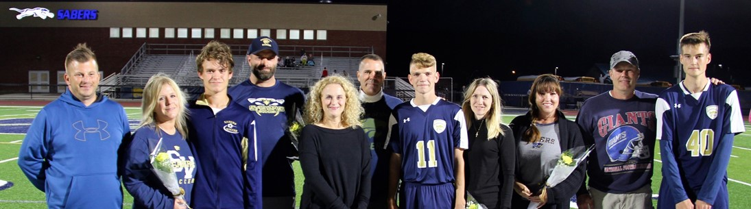Boys Soccer Senior Night group picture