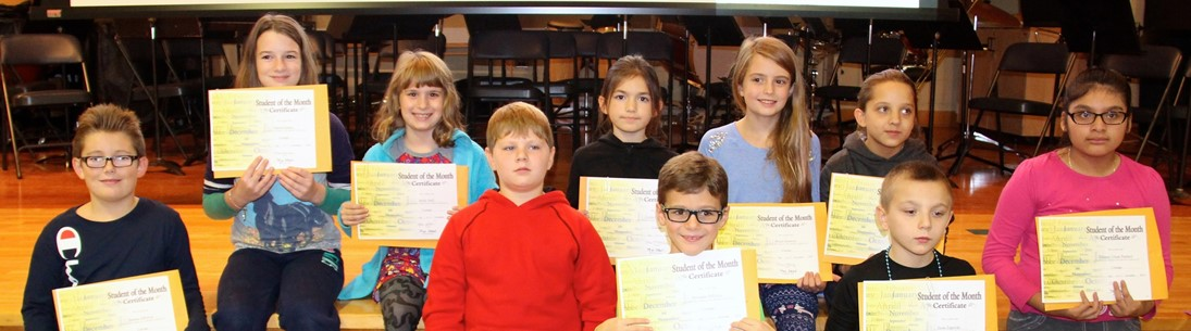 Brookside Student of the Month winners