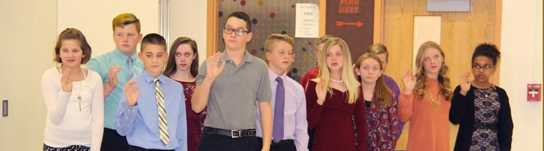 national junior honor society inductees