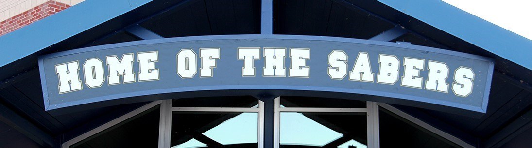 Sign that reads Home of the Sabers