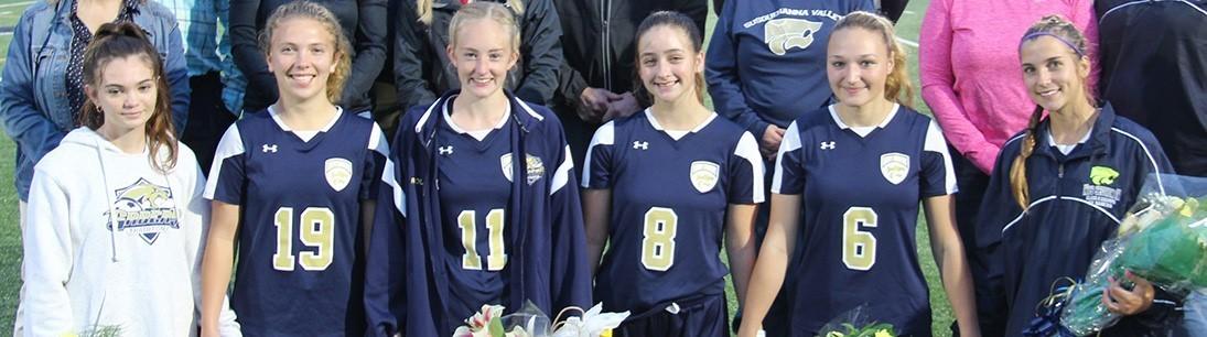 Six girls soccer seniors